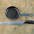 kitchen basics  frying pan and bread knife stock photo © tab62