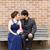 szerelmespár · pad · nő · szeretet · hát · fej - stock fotó © tab62
