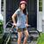 tienermeisje · fiets · portret · paardrijden · zomer · park - stockfoto © tab62