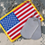 american flag with dog tags on camouflage stock photo © tab62