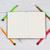 鉛筆 · オープン · 白 · ノートブック · デスク · 在庫 - ストックフォト © tab62