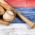 leder · handschoen · honkbalknuppel · groene · toonhoogte · gras - stockfoto © tab62
