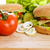 sabroso · hamburguesa · apetitoso · placa · pan - foto stock © taden