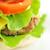 hamburger with vegetables close up stock photo © taden