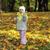 nina · jugando · otono · parque · bastante · familia - foto stock © taden