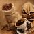 grãos · de · café · feijões · copo · saco · atrás · café · preto - foto stock © taden