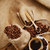 koffiebonen · bonen · beker · zak · achter · zwarte · koffie - stockfoto © taden