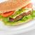 гамбургер · овощей · блюдо · таблице · группа · пшеницы - Сток-фото © taden