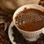 grãos · de · café · cerâmico · copo · foto · tiro · restaurante - foto stock © taden