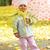 girl playing in autumn park stock photo © taden