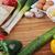 eieren · prei · knoflook · geïsoleerd · witte · voedsel - stockfoto © taden