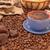 koffiebonen · suiker · specerijen · top · ruimte - stockfoto © taden