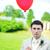 Rood · ballon · iemand · blauwe · hemel · hemel - stockfoto © taden