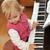 少女 · ピアノ · 写真 · 演奏 · ノート · 女性 - ストックフォト © taden