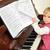 kız · piyano · güzel · küçük · kız · müzik · yüz - stok fotoğraf © taden