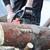 láncfűrész · férfi · vág · fa · fa · építkezés - stock fotó © taden