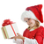 heyecanlı · küçük · kız · açılış · Noel · sunmak - stok fotoğraf © taden