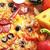 smakelijk · pizza · tomaten · kaas · zwarte · olijven - stockfoto © taden