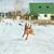собака · экспедиция · бесплодный · зима · пейзаж · человека - Сток-фото © taden