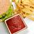 saboroso · hambúrguer · apetitoso · fries · branco · prato - foto stock © taden