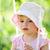 portret · uśmiechnięty · dziewcząt · posiedzenia · huśtawka · szkoły - zdjęcia stock © taden