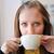 genç · kadın · fincan · kahve · bakıyor · dışarı - stok fotoğraf © taden