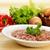 primer · plano · chile · frijoles · cerámica · tazón · cebolla - foto stock © taden