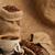 kávé · csésze · zsák · mögött · feketekávé · kávé - stock fotó © taden