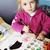 cute · meisje · tekening · palet · borstel - stockfoto © taden