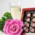 iki · gözlük · pembe · şampanya · çiçekler · parti - stok fotoğraf © taden