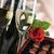 champagne · Rood · rose · hartvorm · chocolade · papier · bruiloft - stockfoto © taden