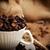コーヒー豆 · カップ · 木製 · 表 - ストックフォト © taden