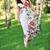 mujer · hermosa · caminando · hierba · abedul · arboleda - foto stock © taden