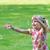 女の子 · 再生 · バブル · ブロワー · 緑 · 芝生 - ストックフォト © taden