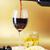 vinho · tinto · queijo · azeitonas · copo · de · vinho · vidro · cozinha - foto stock © taden
