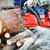 favágó · láncfűrész · tart · munkaruha · védősisak · áll - stock fotó © taden