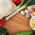 卵 · リーキ · ニンニク · 孤立した · 白 · 食品 - ストックフォト © taden