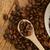 koffiebonen · keramische · lepel · beker · Maakt · een · reservekopie - stockfoto © taden