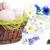 paaseieren · houten · mand · Pasen · voorjaar - stockfoto © taden