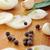 coriandre · poivre · noir · semences · noix · de · muscade · plaque · beige - photo stock © taden