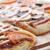 três · pequeno · comida · pizza · vida - foto stock © taden