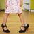 nina · grande · zapatos · funny · nina · madres - foto stock © taden
