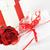 hediye · mektup · güzel · kırmızı · gül · çiçek - stok fotoğraf © taden