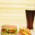 fast-food · lezzetli · hamburger · patates · kızartması · kola · gıda - stok fotoğraf © taden