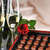 champagne and red rose stock photo © taden