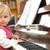 nina · piano · hermosa · nina · música · cara - foto stock © taden