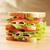 вкусный · сэндвич · свежие · деревянный · стол · таблице · группа - Сток-фото © taden