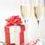 kırmızı · gül · mektup · güzel · şampanya · çiçek - stok fotoğraf © taden