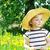 menina · campo · leão · menina · feliz · coroa · amarelo - foto stock © taden
