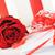 gül · mektup · güzel · kırmızı · gül · şerit - stok fotoğraf © taden